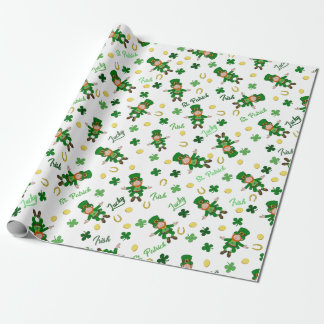 St Patricks day pattern Wrapping Paper