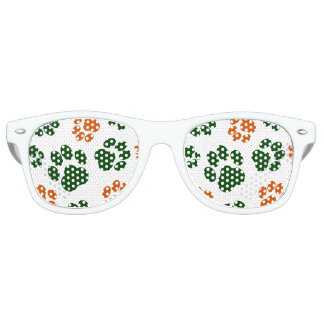 St. Patrick's Day Paw Print Party Shades