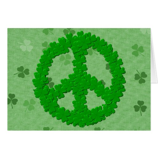 St Patrick's Day Peace Sign Cards