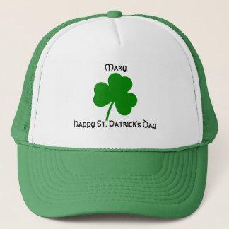 St. Patrick's Day Personalized Shamrock Trucker Hat