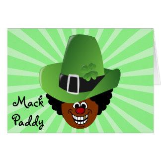 St. Patrick's Day Pimp Style Mack Paddy Leprechuan Note Card