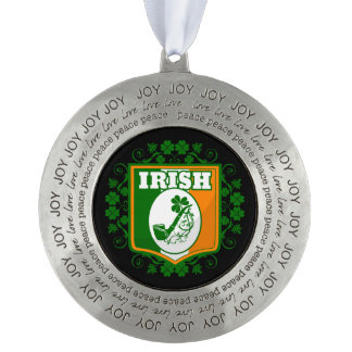 St Patricks Day Pipe Pewter Ornament