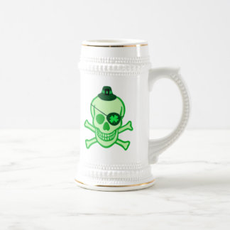 St. Patrick's Day Pirate Skull Beer Stein