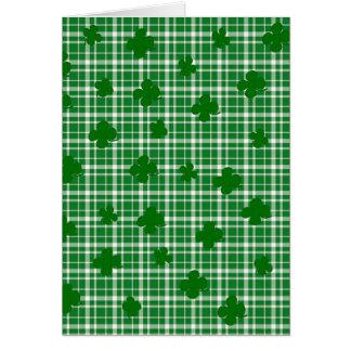 St. Patricks day plaid pattern Card