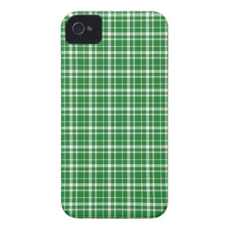 St. Patricks day plaid pattern Case-Mate iPhone 4 Cases