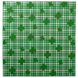 St. Patricks day plaid pattern Napkin