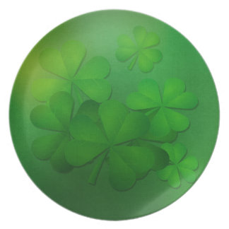 St. Patrick's Day Plate - Clovers