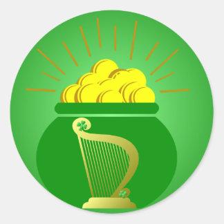 St Patrick's Day Pot of Gold Sticker