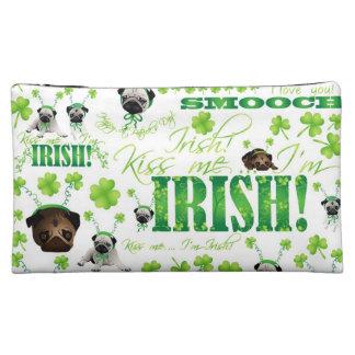St. Patrick's Day Pug Makeup Bag