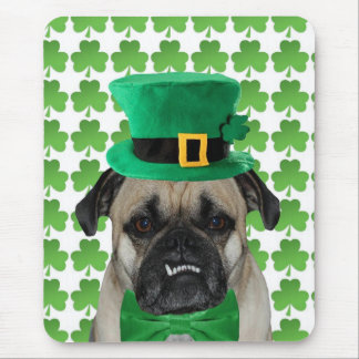 St. Patrick's Day Pug Mouse Pad