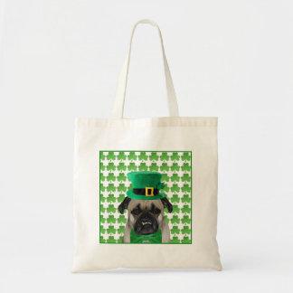 St Patrick's Day Pug Tote Bag