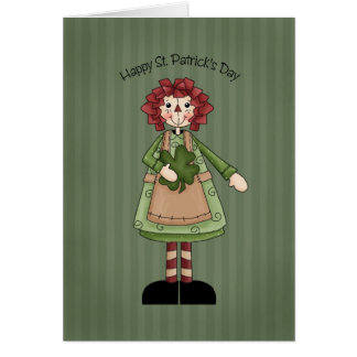St. Patrick's Day Raggedy Doll Card