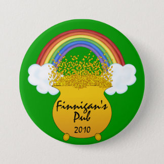 St. Patrick's Day Rainbow Button - SRF
