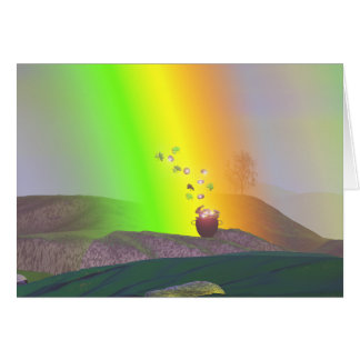 St. Patrick's Day - Rainbow Gold Card