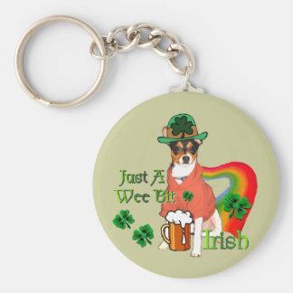 St. Patrick's Day Rat Terrier Keychain
