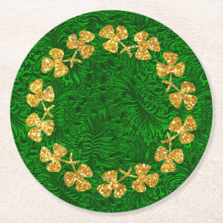 St Patrick's Day Round Paper Coaster