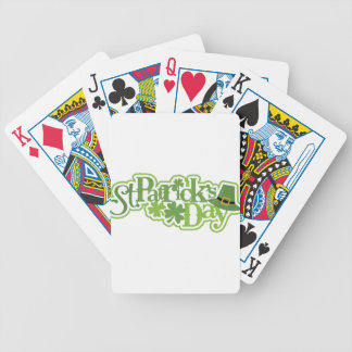 St Patrick's day, Saint Patrick Irish design Bicycle Playing Cards