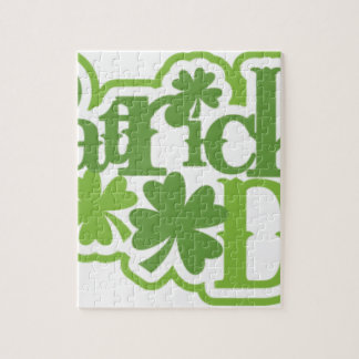 St Patrick's day, Saint Patrick Irish design Jigsaw Puzzle