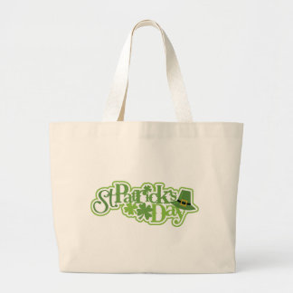 St Patrick's day, Saint Patrick Irish design Large Tote Bag