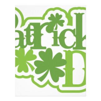 St Patrick's day, Saint Patrick Irish design Letterhead