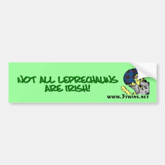 St. Patrick's Day Scottish Leprechaun Bumper Skr Bumper Sticker