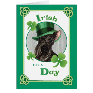 St. Patrick's Day Scottish Terrier Card