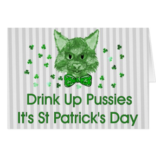 St Patrick's Day Scrapper Cat Cards