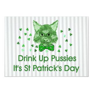 St Patrick's Day Scrapper Cat Card