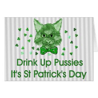 St Patrick's Day Scrapper Cat Note Card