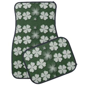 St Patricks Day shamrock clover pattern Car Mat