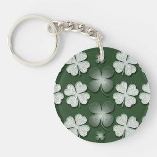 St Patricks Day shamrock clover pattern Keychain