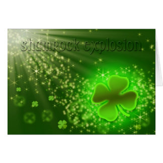 St. Patrick's Day - Shamrock Explosion - Fun Card
