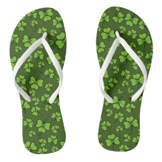 St. Patrick's Day Shamrock Flip-Flops Flip Flops