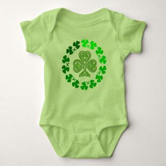 St. Patrick's Day Shamrock Green apparel Baby Bodysuit