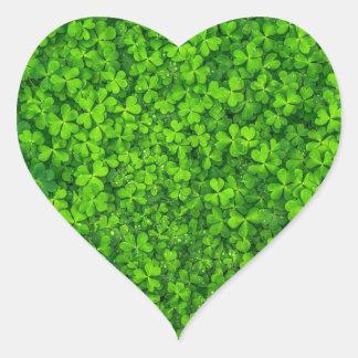 St. Patrick's Day Shamrock Heart Sticker