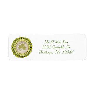 St. Patrick's Day Shamrock Leaf Address Label