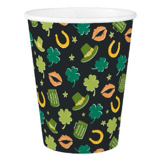 St. Patrick's Day Shamrock Pattern Paper Cup