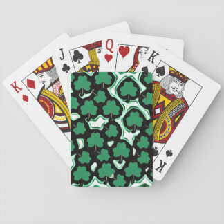 St. Patrick's Day shamrock pattern Playing Cards