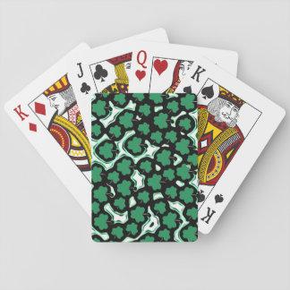 St. Patrick's Day shamrock pattern Poker Deck