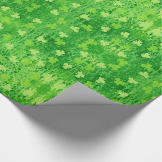 St Patrick's Day Shamrock Pattern Wrapping Paper