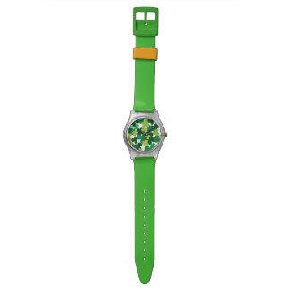 St. Patrick's Day Shamrock Pattern Wristwatches