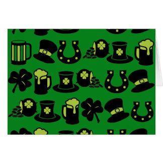 St Patricks Day Shamrock Pot of Gold Green Beer Cards