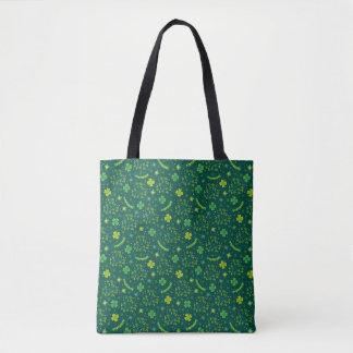St. Patrick's Day Shamrock Print Tote Bag