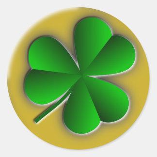 St Patricks Day Shamrock Round Stickers Sticker