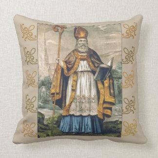 St. Patrick's Day Shamrock Snake Bishop Throw Pillow