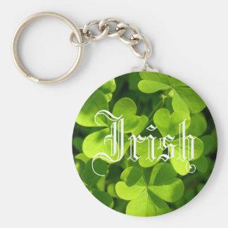 St. Patrick's Day Shamrocks Basic Round Button Keychain