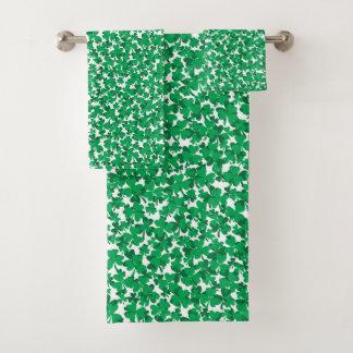 St. Patrick's Day Shamrocks Bath Towel Set
