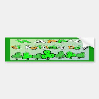 St Patrick's Day Shamrocks Car Bumper Sticker