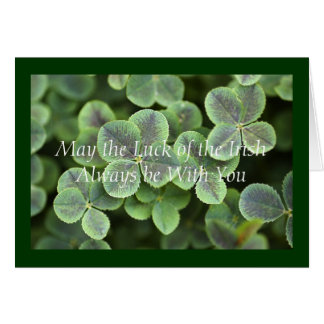 St. Patrick's Day Shamrocks Card