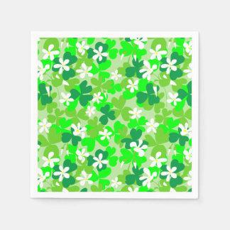 St Patrick's Day Shamrocks Paper Napkins